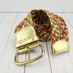 Target | Autumn Braided Leather Belt w/Gold Buckle